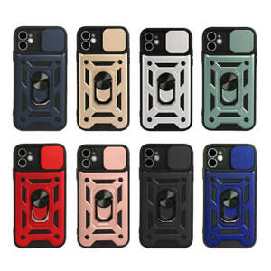 Case For iPhone 12 11 Pro Max XR X Shockproof Heavy Duty Slide Camera Lens Cover