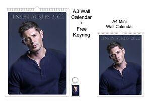 Jensen Ackles 2022 A3 A4 Wall Office Calendar + Key Ring