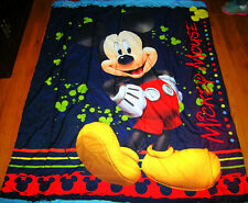 TWIN SIZE MICKEY MOUSE CLUBHOUSE DOUBLE SIDED COMFORTER VERY GOOD USED CONDITION