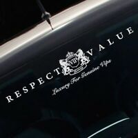 Respect Value Logo Decal VIP Windshield Vinyl Reflective Car Auto Sticker New