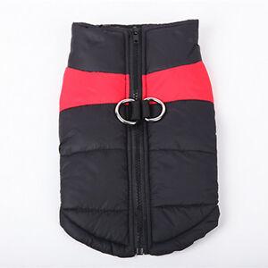 Waterproof Small&Large Pet Dog Clothes Winter Warm Padded Coat Pet Vest Jacket