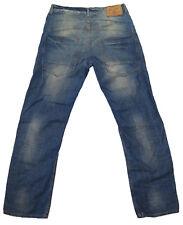Men's RIVER ISLAND Straight Leg Mid Blue Denim Jeans  W32 L31