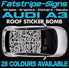 AUDI A3 GRAPHICS ROOF STICKER BOMB ROOF CAR GRAPHICS DECALS STICKERS 1.6 1.8 GUN