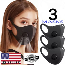 Face Mask With Filter & Cool Air Ventilator (3 Masks Per Pack)