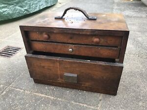 Engineers Wooden Tool Chest Vintage Box