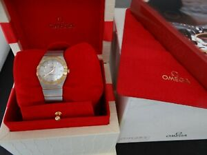 OMEGA CONSTELLATION MOTHER OF PEARL GOLD & STEEL 27mm QUARTZ 123.20.27.60.05.004
