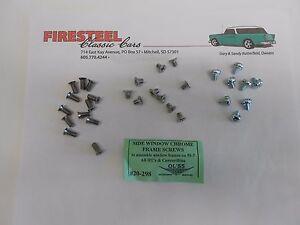 1955 1956 1957 Chevy Hardtop Conv. Nomad #20-298 SIDE & VENT FRAME SCREW SET