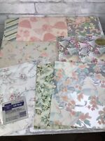 Vintage Wrapping Paper Lot Gift Wrap Wedding and Bridal Showers 8 Sheets