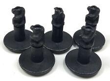 PACK OF FIVE GENUINE AUDI VW TDI ENGINE UNDERTRAY 6X20MM BLACK GRIP PIN SCREWS