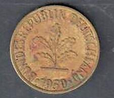 Circulated Germany 10 Pfennig Coin - 1950J