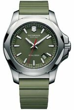 New Victorinox Swiss Army I.N.O.X. Green Dial Green Rubber Men's Watch 241683.1