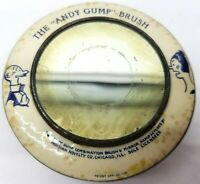 Antique Vtg 1920s Andy Gump Comic Book Mirror Brush Blue Celluloid Estate Round