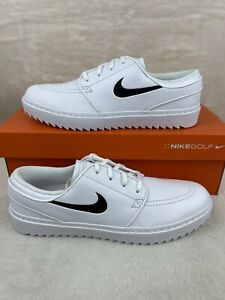 Nike Janoski G Mens Golf Shoes White Black Spikeless Leather AT4967-100 Size 9