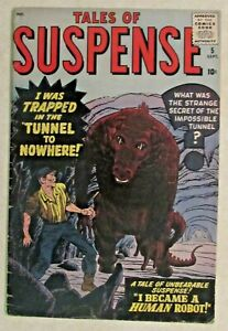 MARVEL COMICS - TALES OF SUSPENSE - ISSUE #5 - EARLY SILVER AGE CLASSIC - 1959