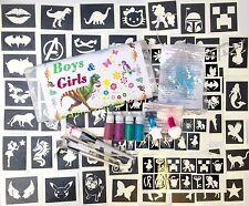 GLITTER TATTOO KIT boys girls 98 stencils complete  CHRISTMAS GIFT fundraising