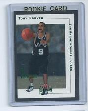 Tony Parker 2001-2002 Fleer Premium  Rookie Card #180