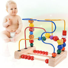 【USA SHIP】First Bead Top Maze Wooden Manipulative Toy for Toddlers Children Kids