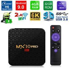MX10 PRO 4GB/32GB 6K Android 9.0 TV BOX Allwinner H6 Quad Core USB WiFi 3D Media