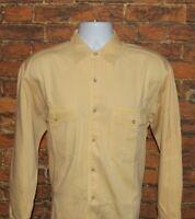 Banana Republic Mens Button Front Shirt Size M Medium Yellow Long Sleeve Cotton