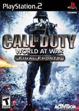 Call of Duty: World at War Final Fronts PS2 New PlayStation2, Playstation 2
