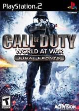 Call of Duty: World at War Final Fronts PS2 New PlayStation2, Playstation 2