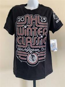 New Chicago Blackhawks Youth Size S Small Black CCM Shirt
