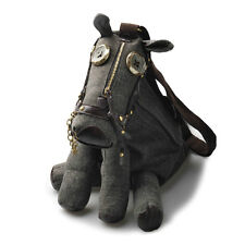 Korea Womens Funny Canvas Cartoon Donkey Tote Handbag Shoulder Crossbody Bag W8