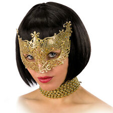 Masque loup ajouré en paillettes dorées [1632] sexy venise theatre costume fete