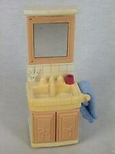 Fisher Price Loving Family Dream Dollhouse Bathroom Vanity Sink Towel Mirror