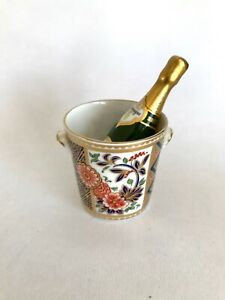 Royal Crown Derby Millennium Miniature Ice Bucket & Champagne Bottle