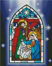 Nativity Stained Glass Counted Cross Stitch Chart No.27-105