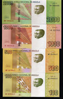 "ANGOLA Set of 100, 500, 1000 and 2000 Kwanzas, 2012 ""2018""  - UNC, New signature"
