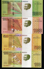 "ANGOLA Set of 100, 500, 1000 and 2000 Kwanzas, 2012 ""2018""  - UNC, New signature"