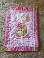 Handmade Quilted Flag. 27 X 19.5 Pink Bonnet Girl. Cotton. Guc.