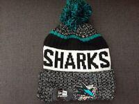 NEW ERA NHL San Jose Sharks Beanie Winter Pom Knit Cap Hat