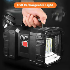 Portable LED Searchlight Handheld Spotlight Flashlight Rechargeable Torch