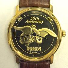 1991 DUMBO 50th Anniversary 18K Gold-Plated Ltd Edition Watch in original box