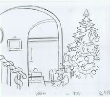 Simpsons Christmas Original Art Animation Production Pencils HABF01 SC474 BG474