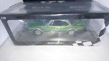 1:18 Minichamps bmw 3,0 CSL verde metalizado limitado 504 unidades OVP nuevo