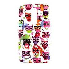 Case cover gel tpu case lg optimus g3 d830 colorful owls