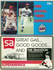 1986 Minnesota Twins vs Kansas City Royals Scorecard: Bo Jackson 1st MLB Triple