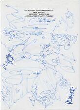 MATT LE TISSIER SOUTHAMPTON TESTIMONIAL 2002 HAND SIGNED LARGE PAGE 22 X SIGS