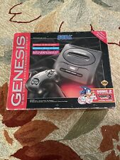 Vtg Sega Genesis Console Video Game System With Sonic The Hedgehog 2 In Orig Box