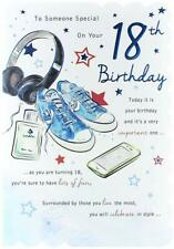 To Someone Special 18th Birthday Card male Headphones shoes Design