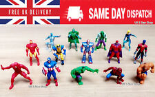 MARVEL Mini Superhero Action figures CAKE TOPPER Avengers xmen SpiderMan hulk
