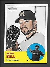 HEATH BELL     2012 TOPPS HERITAGE SP #448    MIAMI MARLINS
