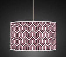 40cm Mauve Heather Geometric Handmade fabric lampshade pendant 533 Light Shade