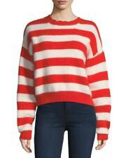 Diane von Furstenberg Striped Angora Baseball Sweater size Xs, S, M