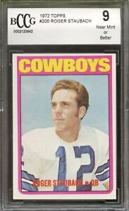1972 Topps #200 Roger Staubach Cowboys Rookie Card BGS BCCG 9 Graded RARE