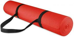 BalanceFrom GoYoga All Purpose High Density Non-Slip Exercise Yoga Mat Red NEW